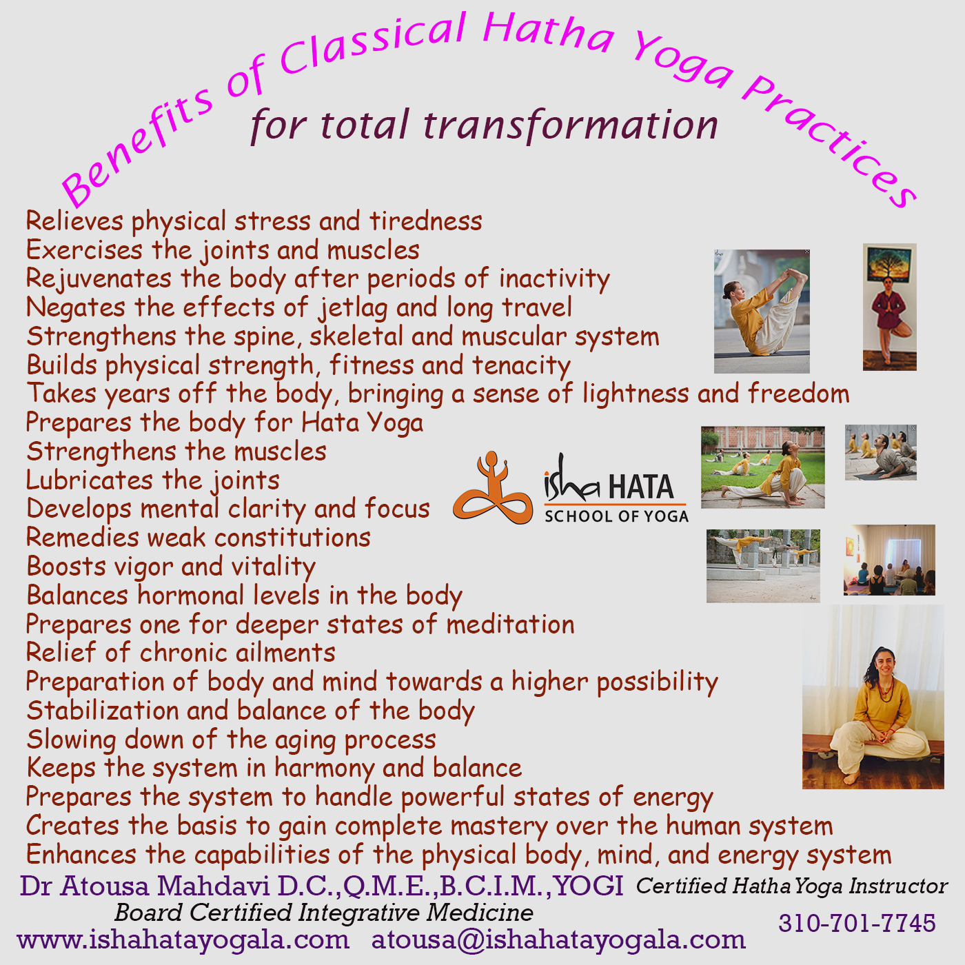 Benefits of Classical Hatha Yoga Practices